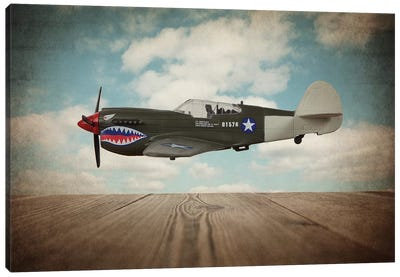 P40 Mustang Canvas Art Print