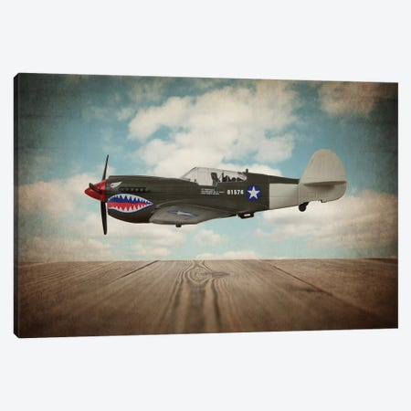 P40 Mustang Canvas Print #SNT75} by Saint and Sailor Studios Canvas Artwork