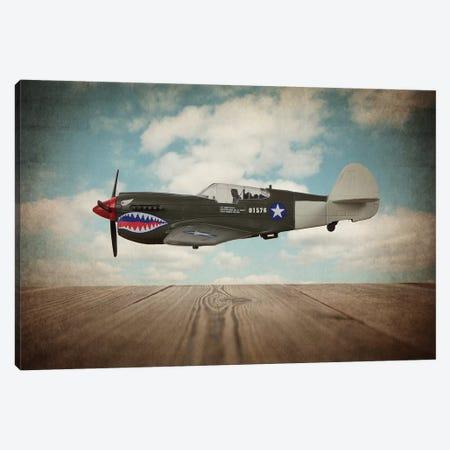 P40 Mustang Canvas Print #SNT75} by Saint and Sailor Studios Canvas Artwork
