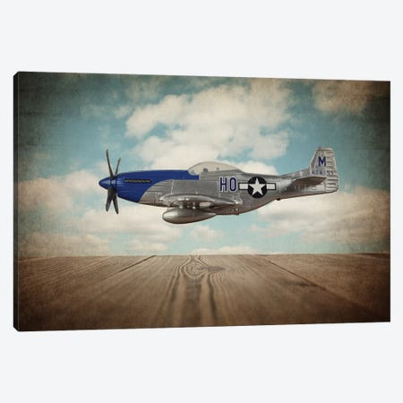 P51 Mustang Canvas Print #SNT76} by Saint and Sailor Studios Canvas Artwork