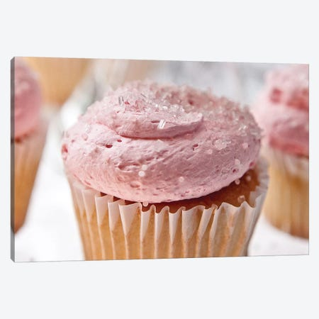Pink Cupcake Canvas Print #SNT77} by Saint and Sailor Studios Canvas Artwork