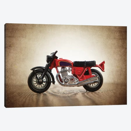 Red Motorcycle Canvas Print #SNT81} by Saint and Sailor Studios Canvas Art