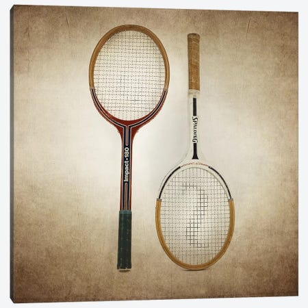 Tennis Rackets Vintage Canvas Print #SNT90} by Saint and Sailor Studios Canvas Print