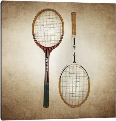 Tennis Rackets Vintage Canvas Art Print