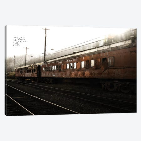 Train Birds Canvas Print #SNT94} by Saint and Sailor Studios Canvas Artwork