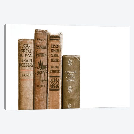 Vintage Book Spines Canvas Print #SNT99} by Saint and Sailor Studios Canvas Print