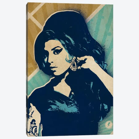 Amy Winehouse Canvas Print #SNV42} by Supanova Canvas Artwork