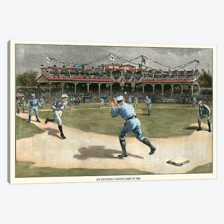 National League Game, 1886 Canvas Print #SNY1} by Snyder Canvas Wall Art