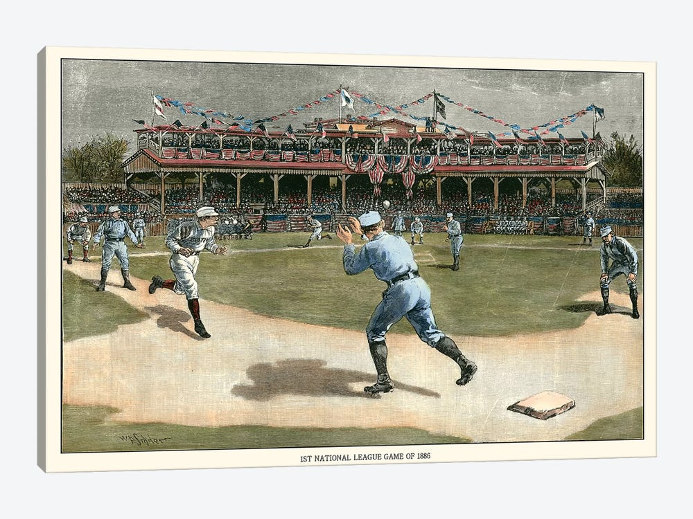 National League Game, 1886 by Snyder 1-piece Canvas Wall Art