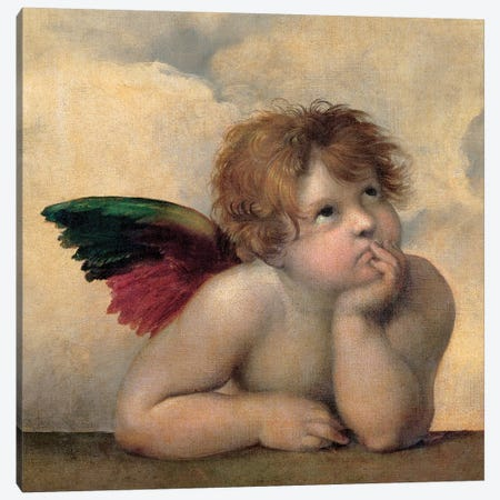 Angelo I - Madonna Sistina Canvas Print #SNZ3} by Raphael Canvas Print