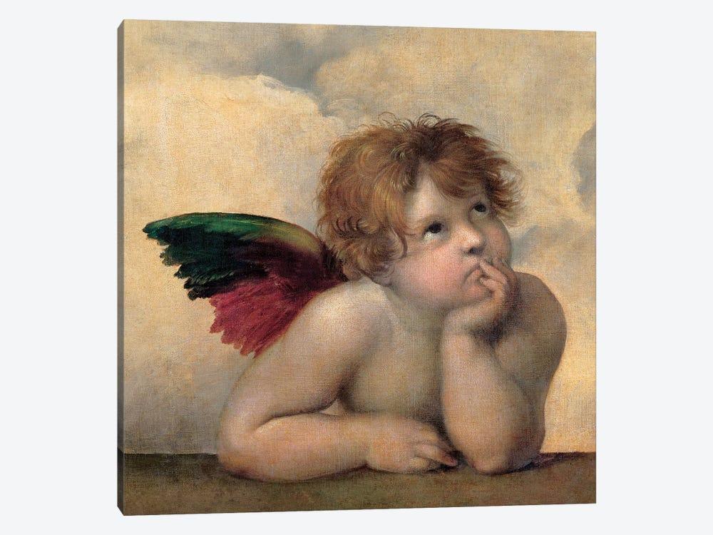 Angelo I - Madonna Sistina by Raphael 1-piece Canvas Print