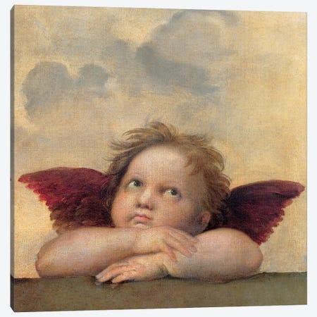 Angelo II - Madonna Sistina Canvas Print #SNZ4} by Raphael Canvas Art
