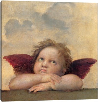 Angelo II - Madonna Sistina Canvas Art Print