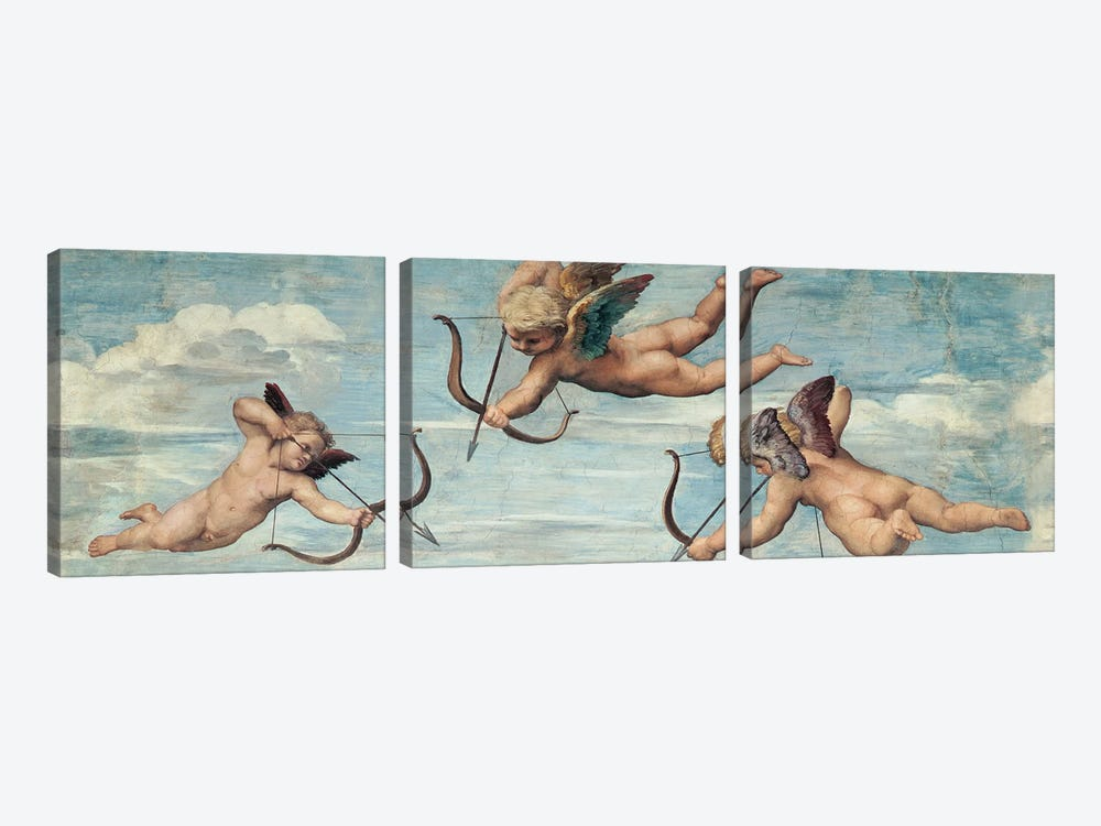 Trionfo di Galatea by Raffaello Sanzio 3-piece Canvas Art Print