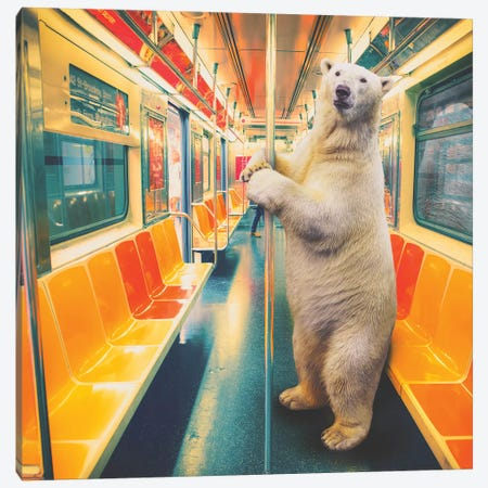 Polar Express Subway Canvas Print #SOA100} by Soaring Anchor Designs Canvas Print