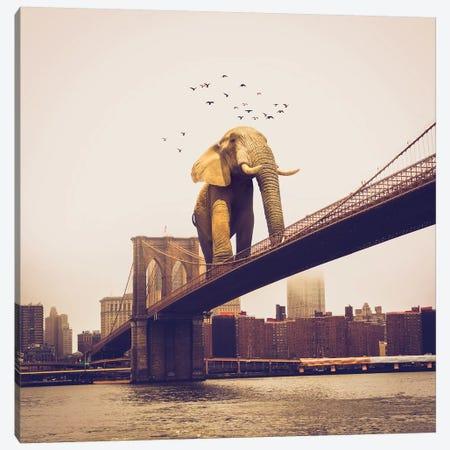 Elephant Bridge Amble Canvas Print #SOA111} by Soaring Anchor Designs Canvas Art