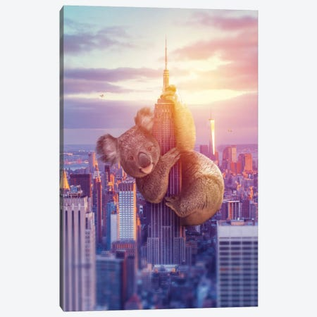 Koala Kong NYC Canvas Print #SOA115} by Soaring Anchor Designs Art Print