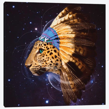 Chief Leopard In Color Canvas Print #SOA11} by Soaring Anchor Designs Art Print