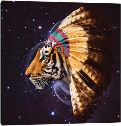 Chief Tiger In Color Canvas Art Print