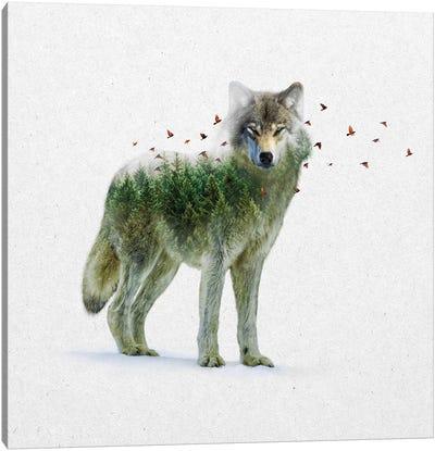 Double Exposure - Wolf Canvas Art Print