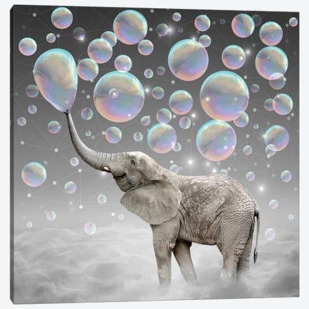 Dream Makers - Elephant Bubbles Canvas Print #SOA23} by Soaring Anchor Designs Canvas Wall Art