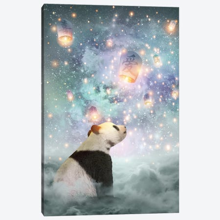 Dreams Take Flight - Panda Canvas Print #SOA24} by Soaring Anchor Designs Canvas Print