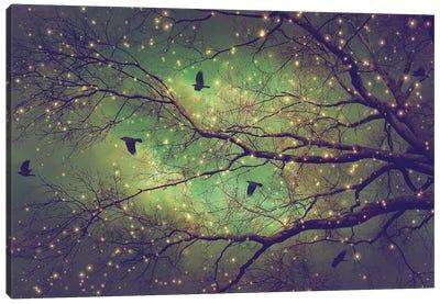 Dusk Meets Dawn Tree Silo Canvas Art Print