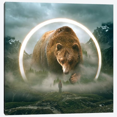 Aegis Bear I Canvas Print #SOA2} by Soaring Anchor Designs Canvas Wall Art