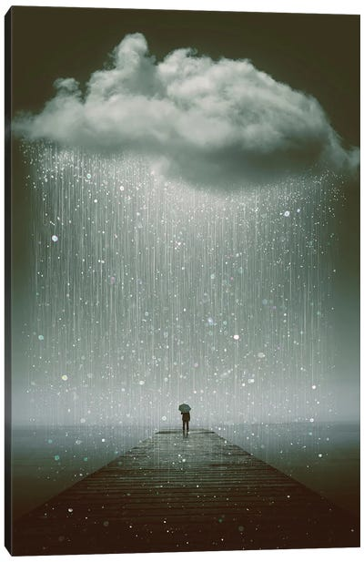 Even The Sky Cries  Canvas Art Print