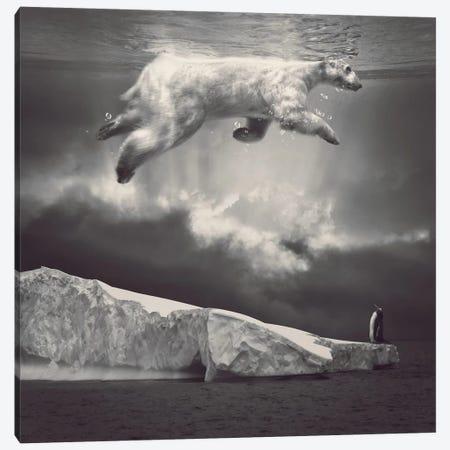 Fernweh - Polar Bear Sky  Canvas Print #SOA35} by Soaring Anchor Designs Canvas Artwork