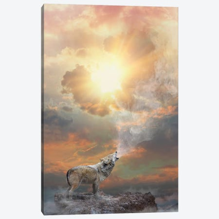 Lone Wolf Howl - Day Canvas Print #SOA44} by Soaring Anchor Designs Canvas Print