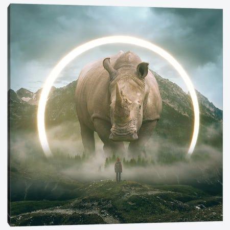 Aegis Rhino I Canvas Print #SOA4} by Soaring Anchor Designs Art Print