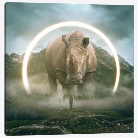 Aegis Rhino I Canvas Print #SOA4} by Soaring Anchor Designs Art Print
