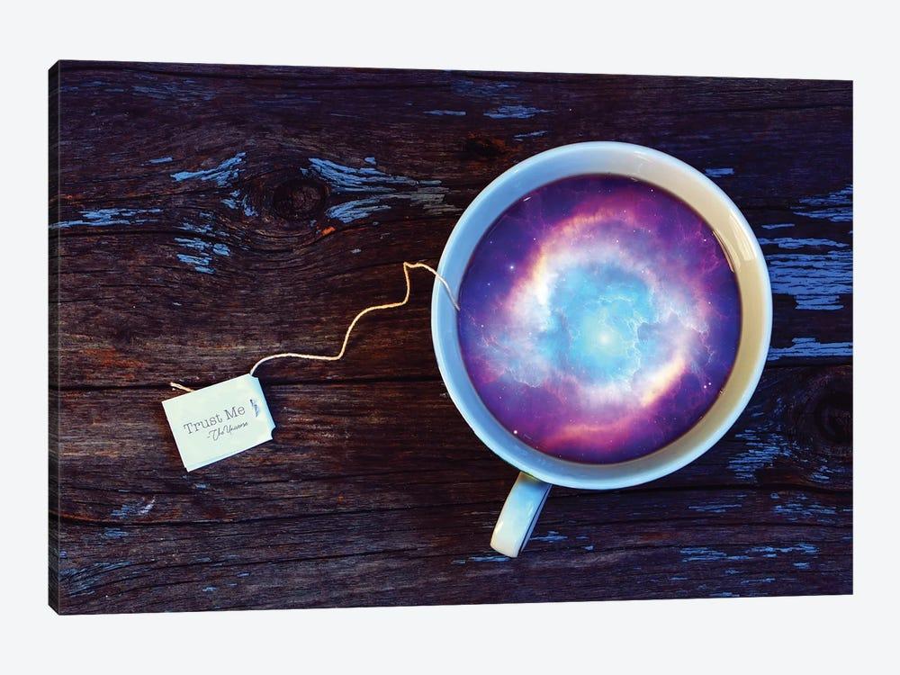 Megacosm - Teacup by Soaring Anchor Designs 1-piece Canvas Art Print