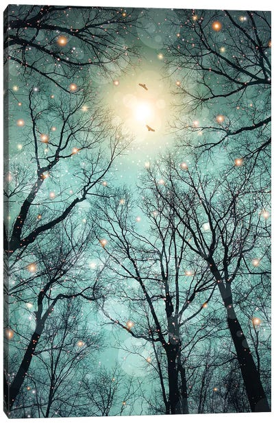 Mint Embers - Trees Canvas Art Print