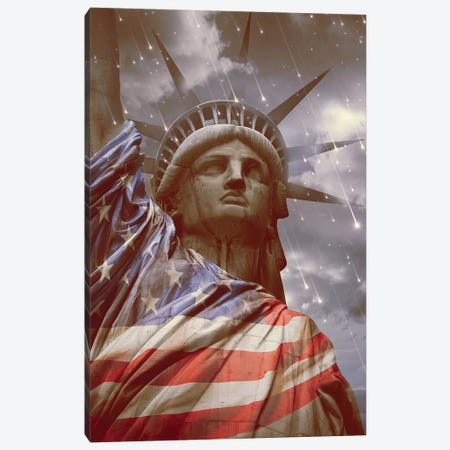 Nevertheless Liberty Canvas Print #SOA53} by Soaring Anchor Designs Art Print