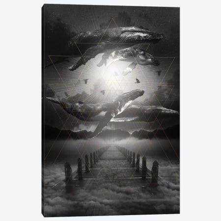 Out Of The Depths - Whale Canvas Print #SOA55} by Soaring Anchor Designs Canvas Artwork