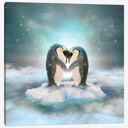 Penguin Couple Canvas Print #SOA56} by Soaring Anchor Designs Canvas Wall Art