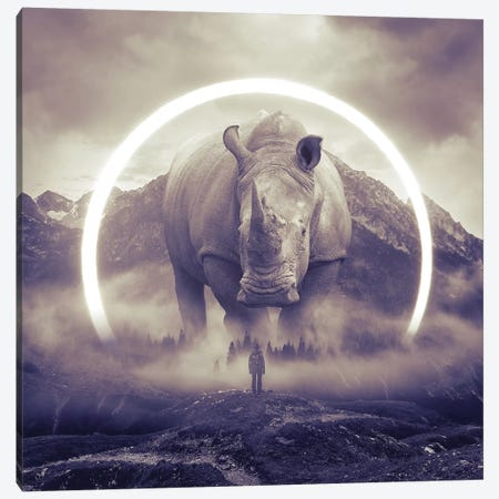 Aegis Rhino II Canvas Print #SOA5} by Soaring Anchor Designs Canvas Art Print