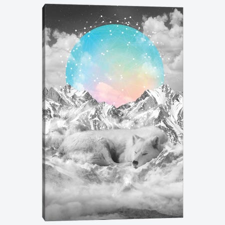 Sleeping Wolf - Guardian Moon Canvas Print #SOA66} by Soaring Anchor Designs Canvas Art Print