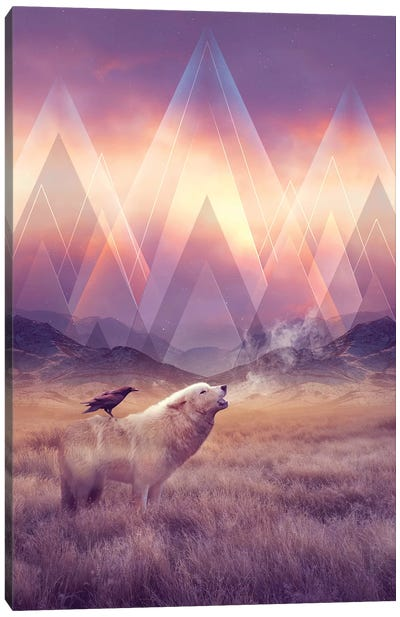 Solace - Wolf Canvas Art Print