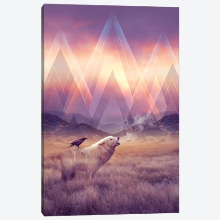 Solace - Wolf Canvas Print #SOA69} by Soaring Anchor Designs Canvas Art