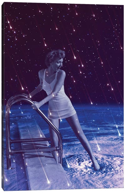 Space Dip Canvas Art Print