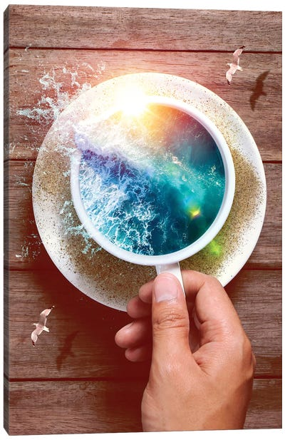 Spoondrift Wave - Cup Canvas Art Print