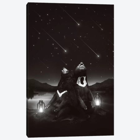 Sun Moon Stars - Bears Canvas Print #SOA76} by Soaring Anchor Designs Canvas Artwork