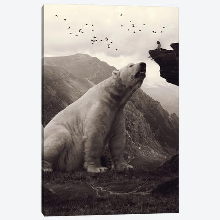 Tutelary - Polar Bear Canvas Print #SOA77} by Soaring Anchor Designs Canvas Wall Art