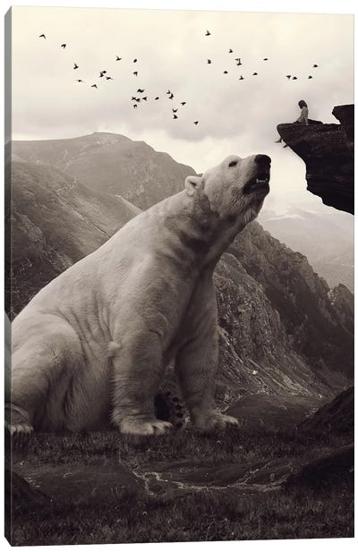 Tutelary - Polar Bear Canvas Art Print