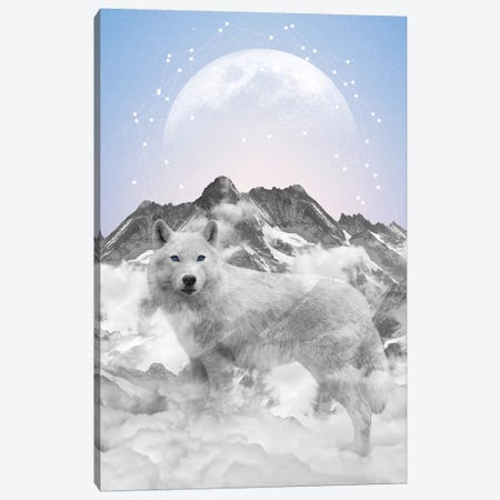 Walk Alone - Wolf Canvas Print #SOA80} by Soaring Anchor Designs Canvas Art
