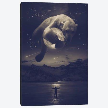 Cobalt Polar Bear Noctuary Canvas Print #SOA83} by Soaring Anchor Designs Canvas Artwork