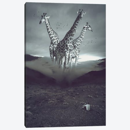 Mystery Mountains Giraffes Canvas Print #SOA92} by Soaring Anchor Designs Canvas Print